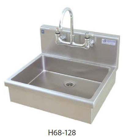 Elegant Apron Front Wall Mounted Commercial Hand Wash Sink