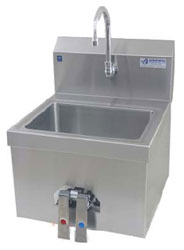 Picture of the H60-110W pedestal hand wash sink