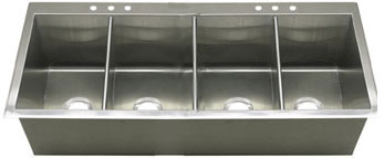 Griffin Commercial Style Stainless Steel Drop In Kitchen Sinks