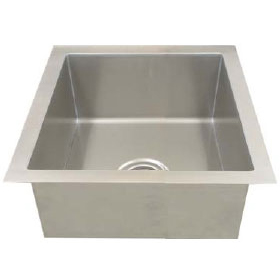 Single bowl 16 gauge stainless steel 90 degree sink