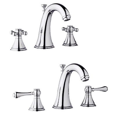 Geneva wideset lav faucet in chrome