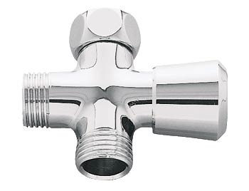 Shower arm diverter in chrome