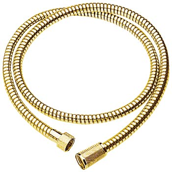Grohe 59-inch shower hose in polished brass