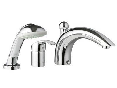 Eurosmart Roman tub filler and handshower
