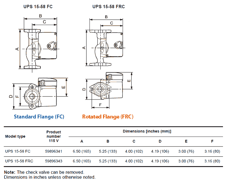 grundfos ups15 58 fc and ups15 58 frc specs dims grundfos motor wiring diagram 4 wire thermostat wiring diagram grundfos pmu 2000 wiring diagram at creativeand.co