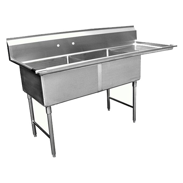 GSW double bowl sink w/ right drainboard