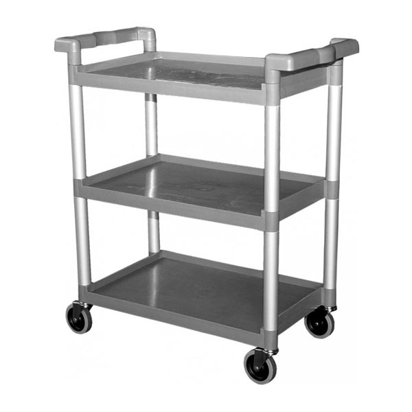 Three level plastic utility cart