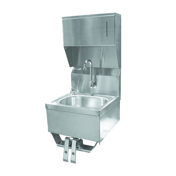 GSW Hand Sink 1615KCG with Faucet, Strainer, Towel & Soap Dispenser