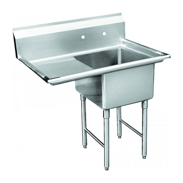 GSW single bowl sink w/ left drainboard