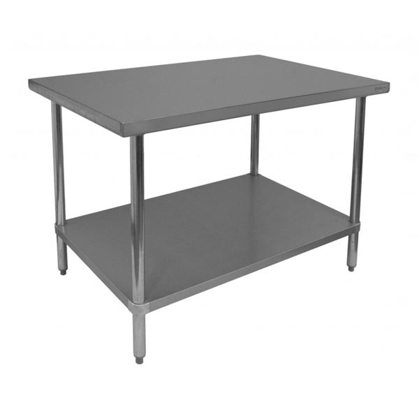 Stainless Steel Flat Top Commercial Work Prep Tables