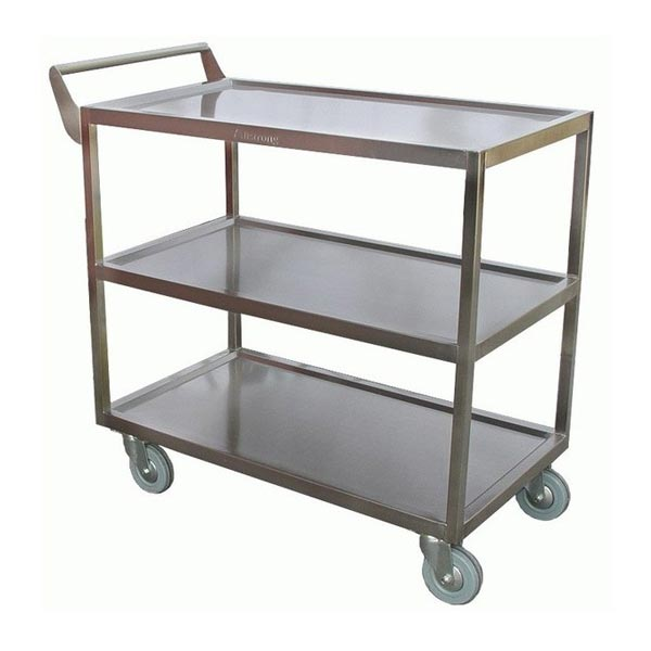 Single Handle Stainless Steel Bus Cart