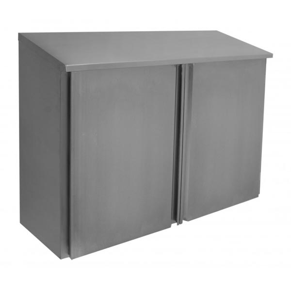 Hinged door slope top wall cabinet