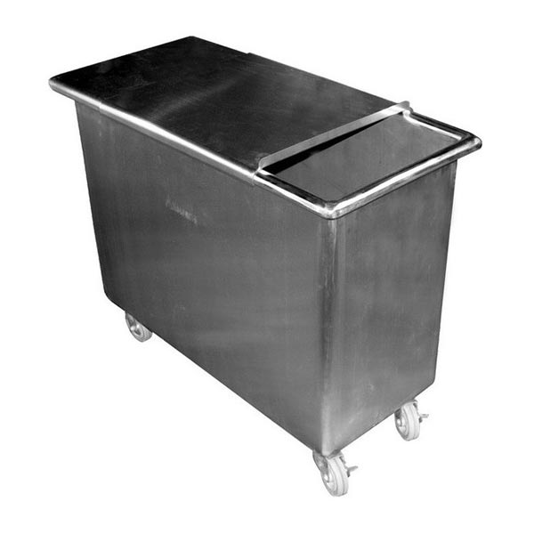 84 Qt. two step sliding cover bin