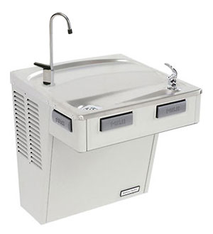 picture of the Halsey Taylor freestanding refrigerated drinking fountain SCWT14A-Q