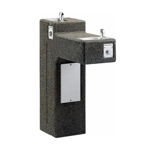 double bubbler stone pedestal drinking fountains