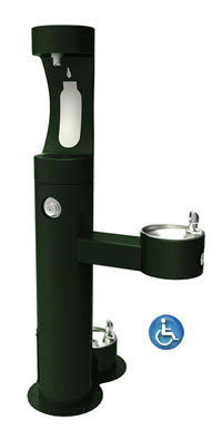 Halsey Taylor 4420BF-DB  bottle filling station with a pet fountain