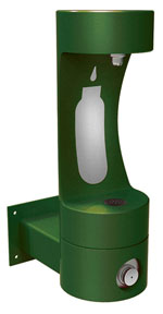 Wall mount bottle filling stations