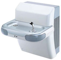 picture of a single bowl Halsey Taylor filtered water cooler