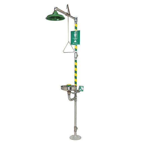 Haws 8300-8309 emergency shower and eyewash combination station