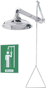 haws chrome plated drench shower