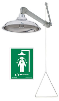 stainless steel emergency drench shower