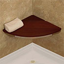 Corner mounted shower seat by HealthCraft