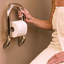 Dual purpose toilet paper holder / grab bar by HealthCraft