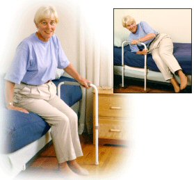 ADA compliant bedside support bars
