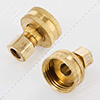 Female hose thread by compression fitting