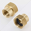 Female hose thread by female iron pipe thread fitting