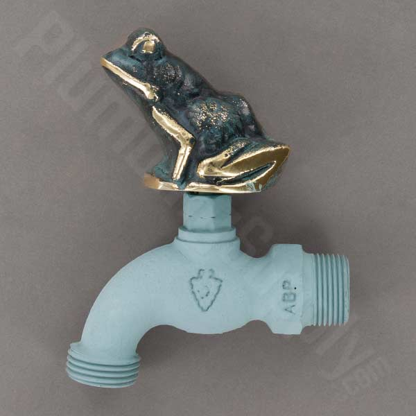 Example of bullfrog handled hose bibb