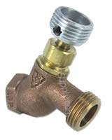 hose bibb with threaded adapter attached