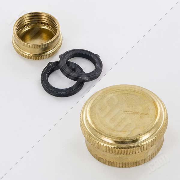 3/4in FGHT brass hose cap