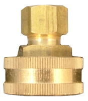 image of 3/4 inch female hose thread (fht) x compression fitting