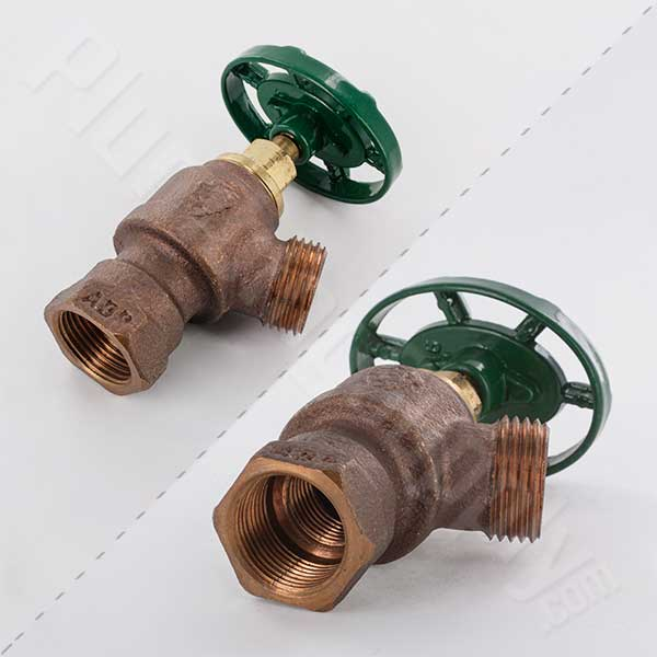 "Inverted up style garden valve with 1/2"" & 3/4"" female pipe thread nested threads"