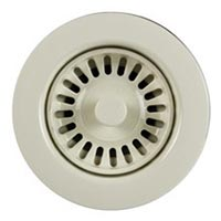 Houzer 3-1/2 inch kitchen basket strainer in Bone