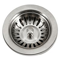 Houzer 3-1/2 inch kitchen basket strainer in Stainless Steel