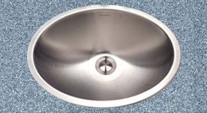 oval stainless steel lavatory sink
