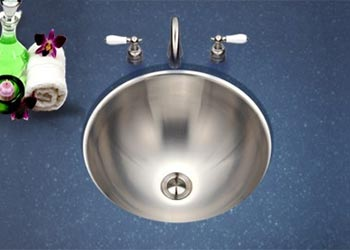 Houzer Opus series CR-1620 stainless steel undermount bathroom sink