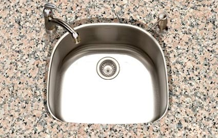 Houzer Eston series PNG-2400 curved single bowl undermount kitchen sink