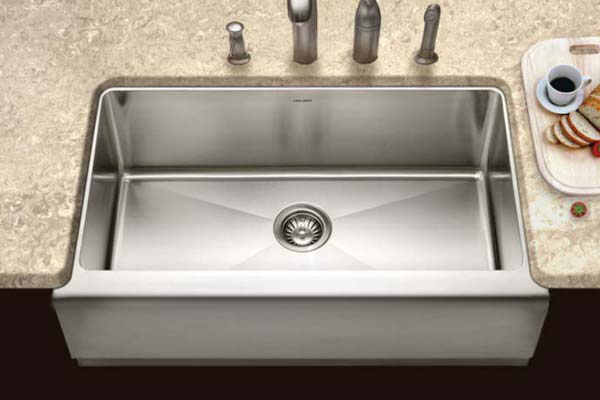 Houzer Epicure Series EPG 3300 Single Bowl Apron Front Kitchen Sink