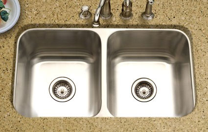 Houzer Medallion Classic Series MD 3109 Equal Double Bowl Undermount  Kitchen Sink MD 3109   Classic 50/50