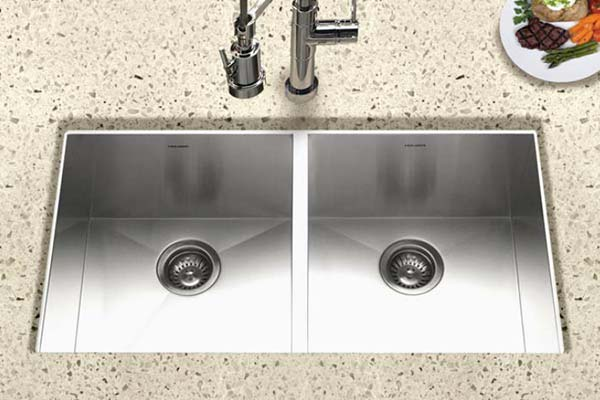 Houzer Contempo series CTD-3350 equal double bowl sink