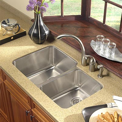Exceptional Houzer Medallion Gourmet Undermount Kitchen Sink