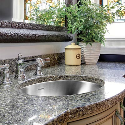 Hammered Undermount Bathroom Sink houzer bathroom sinks
