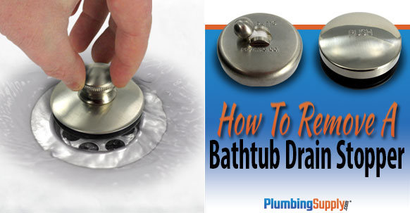 how to remove a bathtub drain stopper Bathtub Drain Linkage