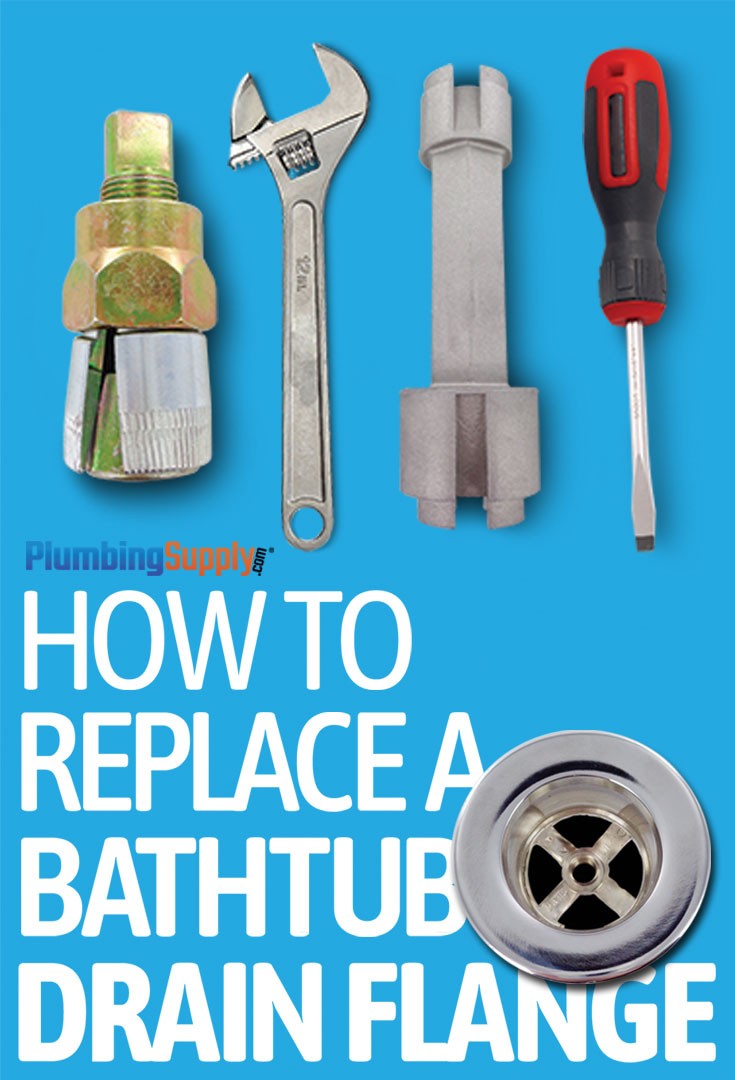 Learn how to properly replace your old bathtub drain flange with a new one using our easy do-it-yourself instructions.