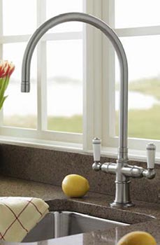 2-handle bar sink with faucet