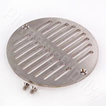 Heavy duty cast brass and nickeland floor drain cover