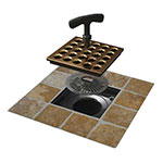 Easy to install square shower drain